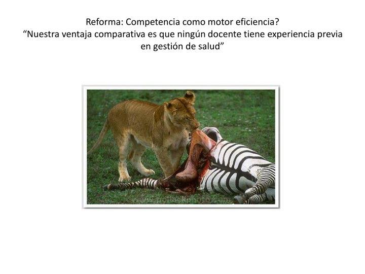 Reforma: Competencia como motor eficiencia?