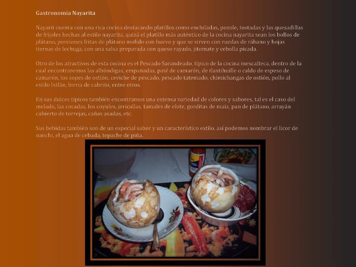 Gastronomía Nayarita