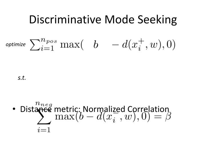Discriminative Mode Seeking