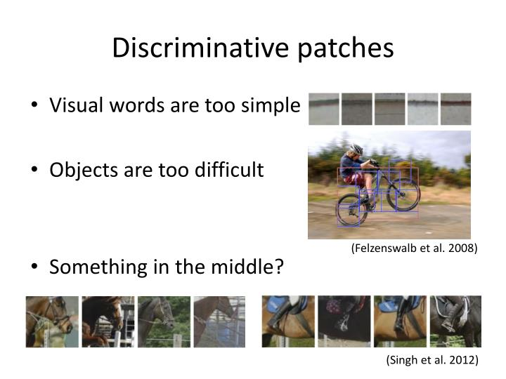Discriminative patches