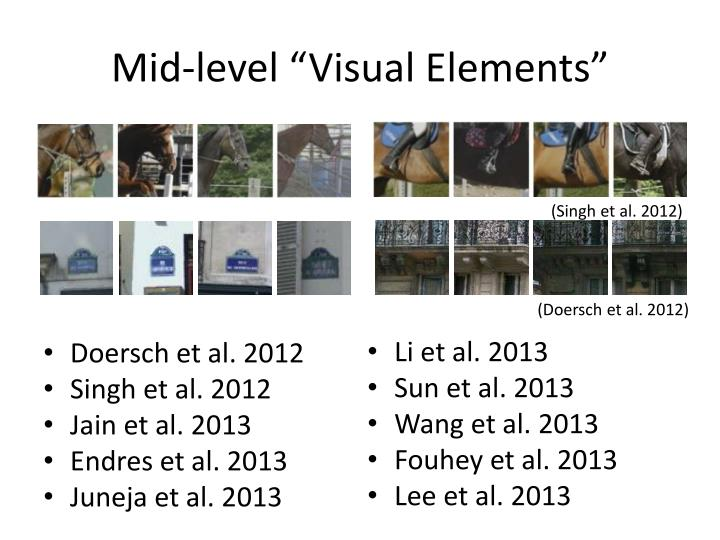 "Mid-level ""Visual Elements"""