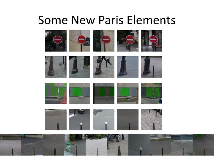 Some New Paris Elements