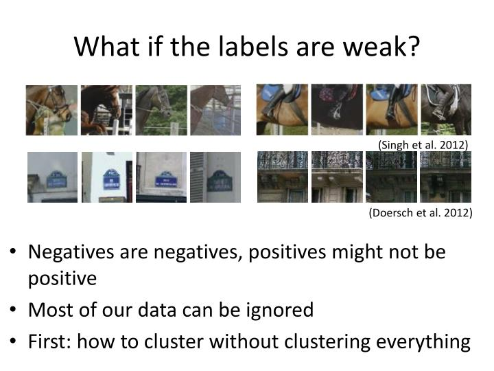 What if the labels are weak?