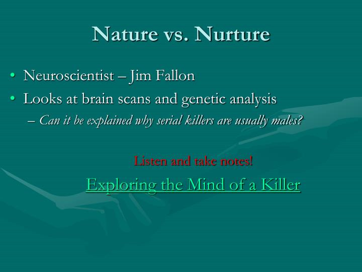 an analysis of the nature of serial killers Behavioral analysis unit-2 the attendees also reflected the international nature of the serial murder problem all serial killers are insane or are evil.