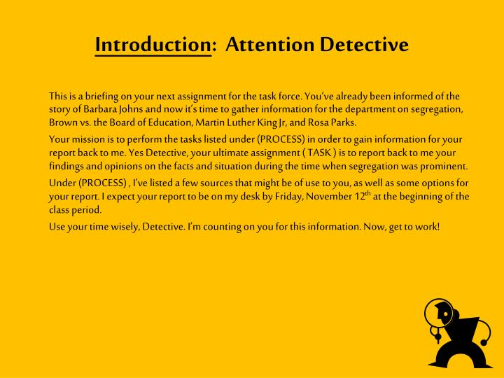 Introduction attention detective