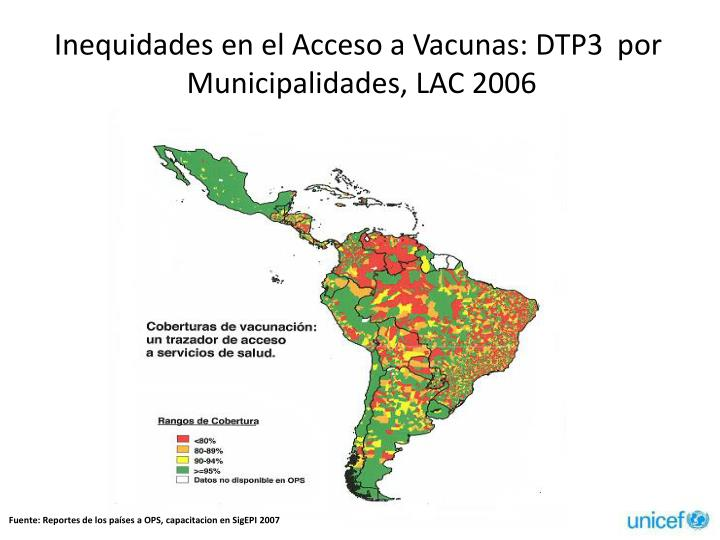 Inequidades en el Acceso a Vacunas: DTP3
