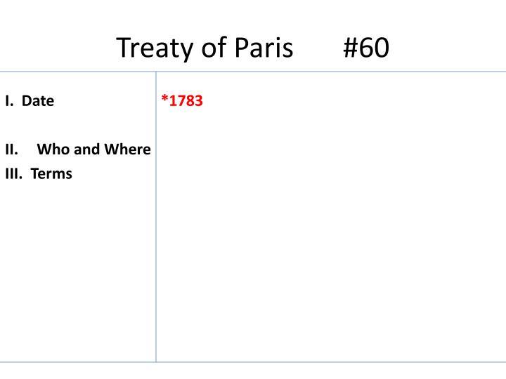 Treaty of Paris       #60
