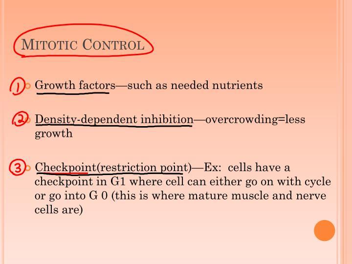 Mitotic Control