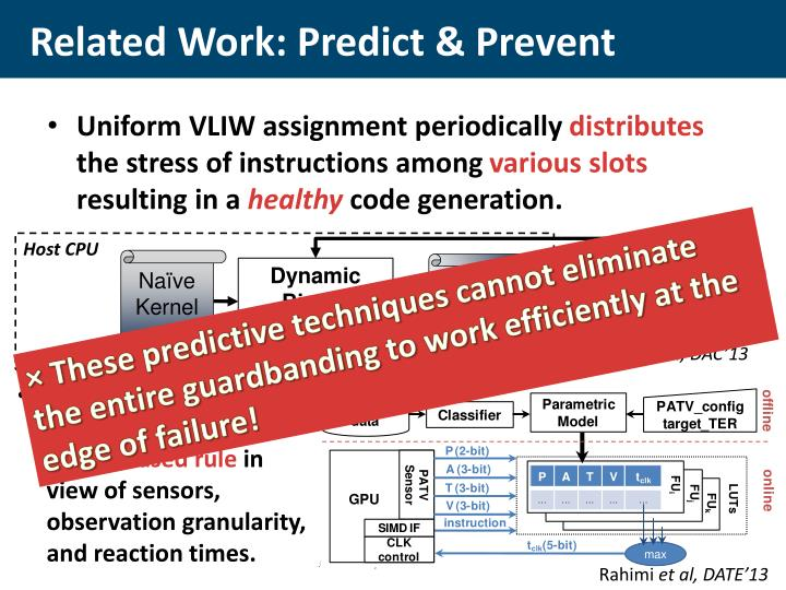 Related Work: Predict & Prevent