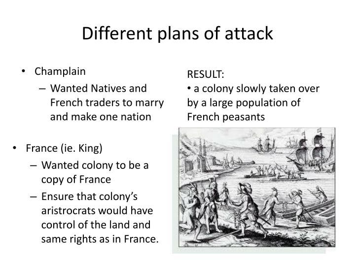 Different plans of attack