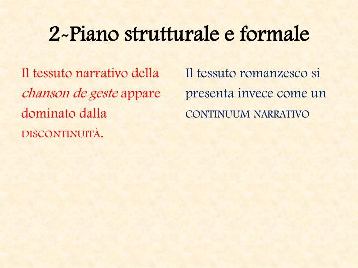 2-Piano strutturale e formale