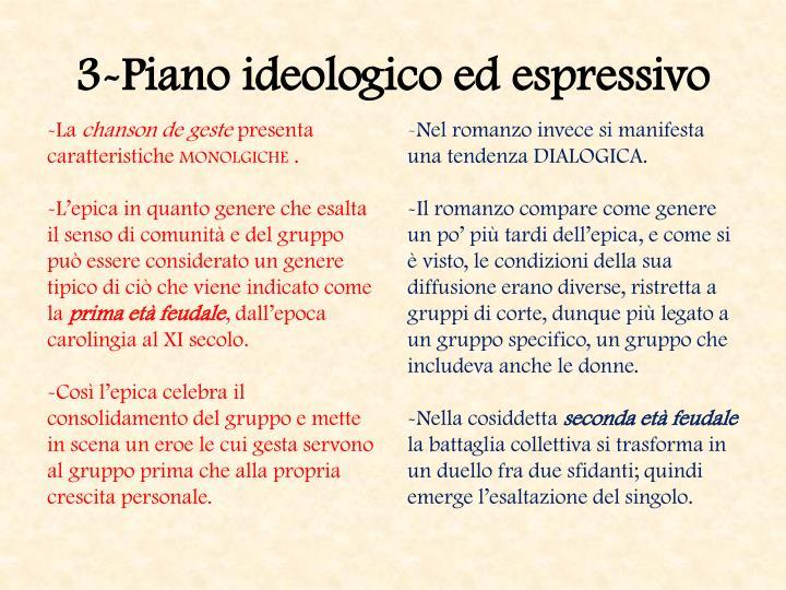 3-Piano ideologico ed espressivo