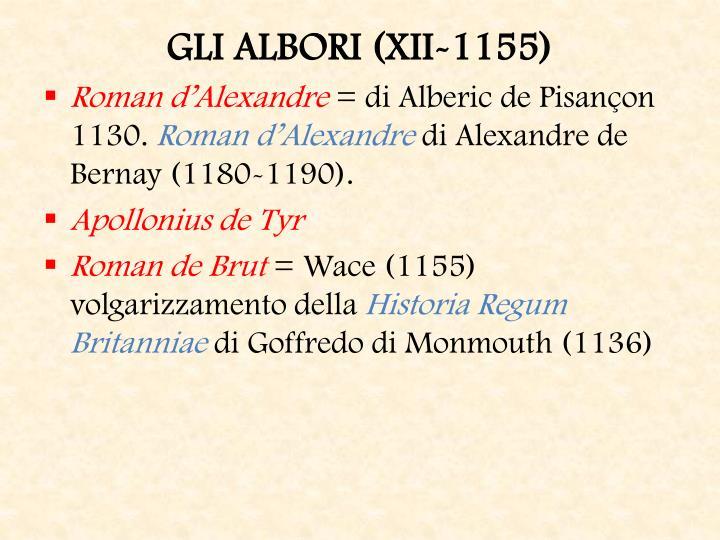 GLI ALBORI (XII-1155)