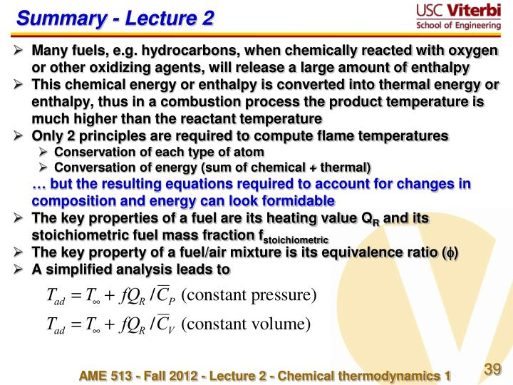 Summary - Lecture 2