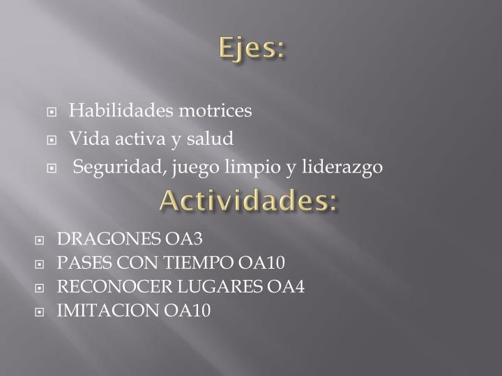 Ejes: