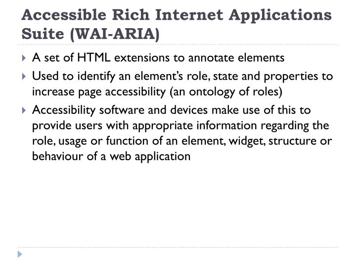 Accessible Rich Internet Applications