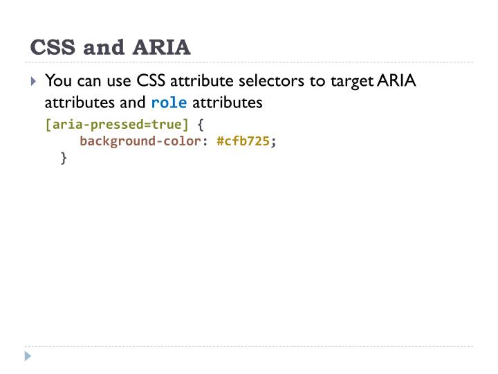 CSS and ARIA