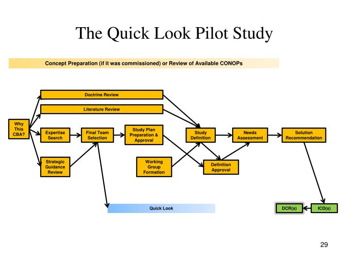 The Quick Look Pilot Study