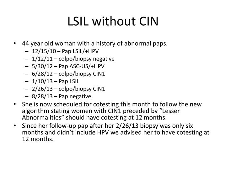 LSIL without CIN