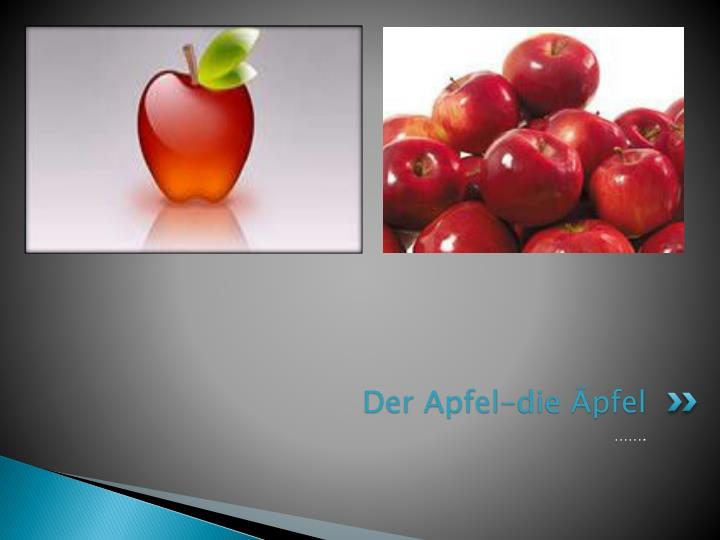 Der Apfel-die Äpfel