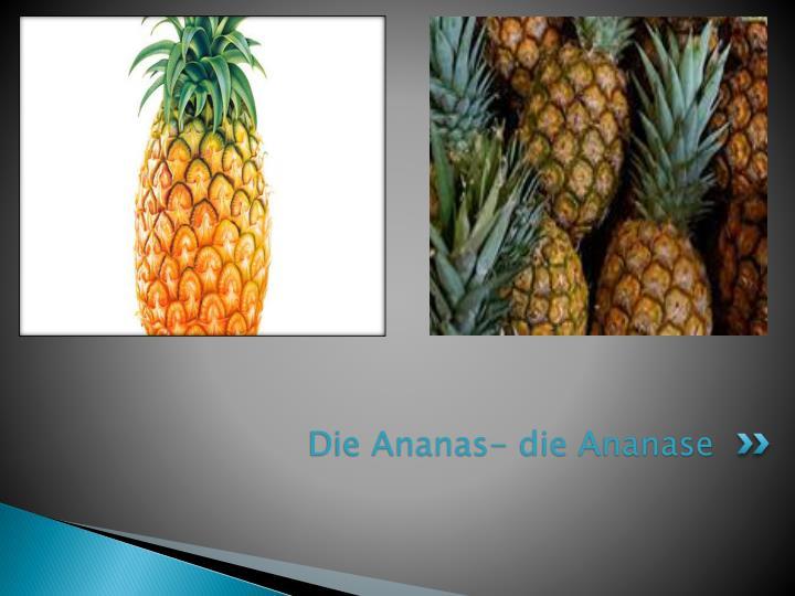 Die Ananas- die