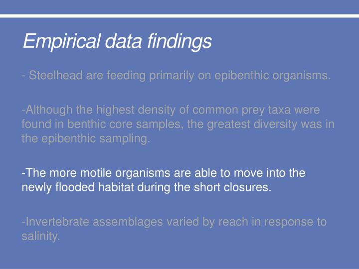 Empirical data findings