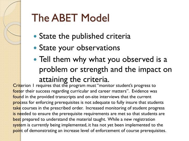 The ABET Model