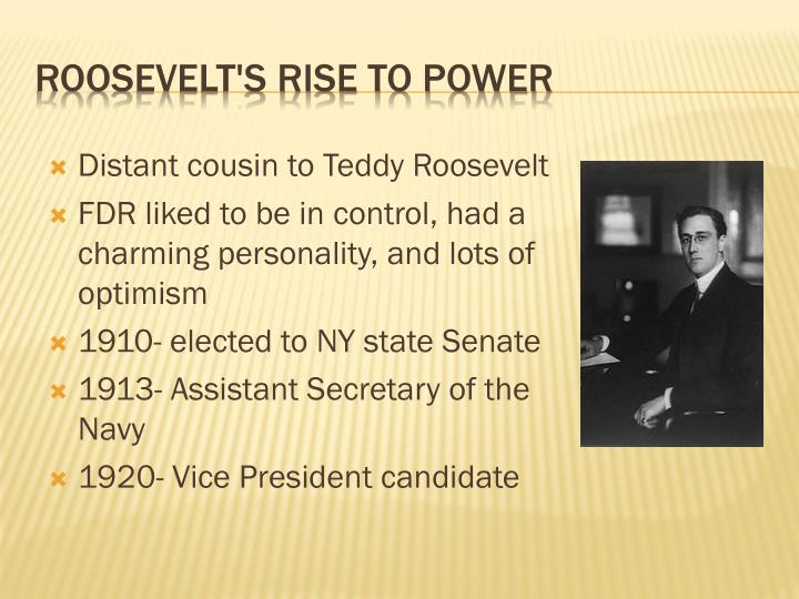 Distant cousin to Teddy Roosevelt