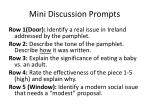 mini discussion prompts