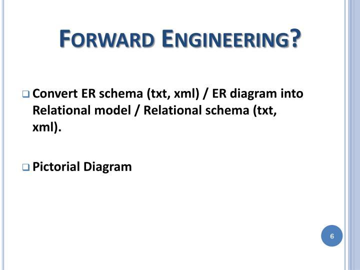 Forward Engineering?