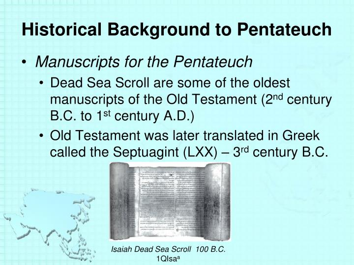 Historical Background to Pentateuch