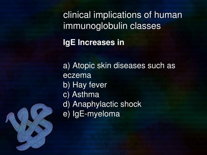 clinical implications of human immunoglobulin classes