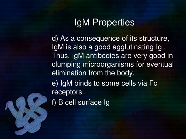 IgM Properties