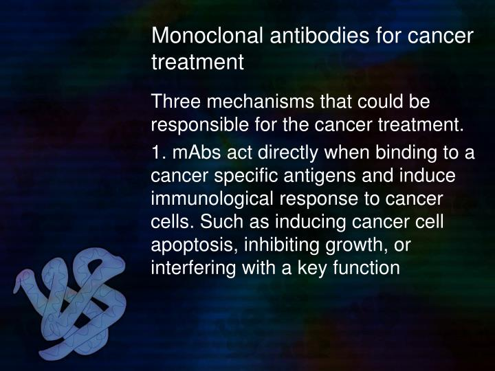 Monoclonal antibodies for cancer treatment