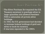 sliver purchase act