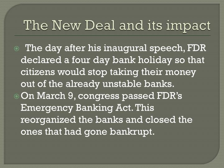 The New Deal and its impact