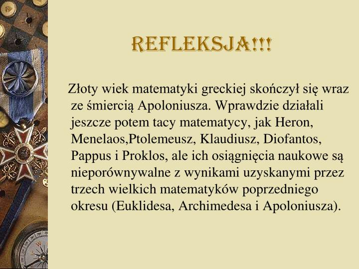 Refleksja!!!