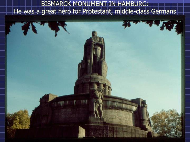 BISMARCK MONUMENT IN