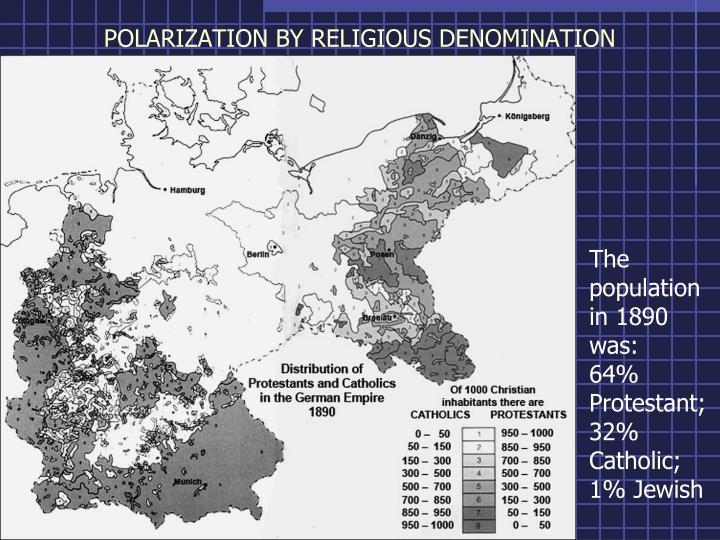 POLARIZATION BY RELIGIOUS DENOMINATION