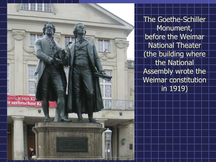 The Goethe-Schiller Monument,