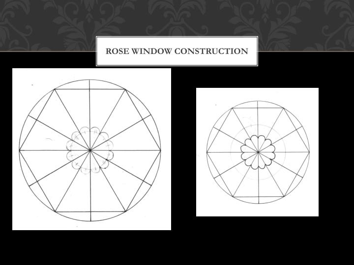 Rose window construction