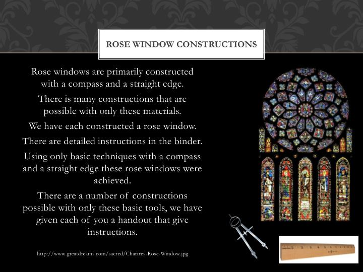 Rose Window Constructions
