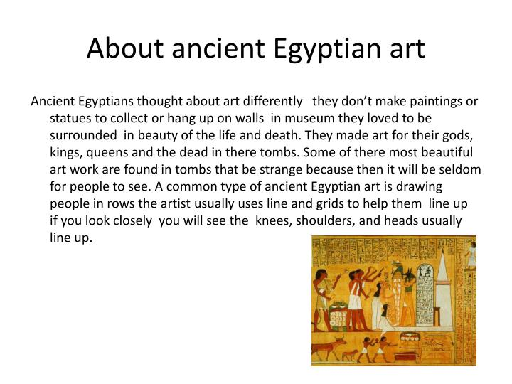 About ancient egyptian art