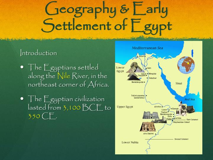 Geography early settlement of egypt