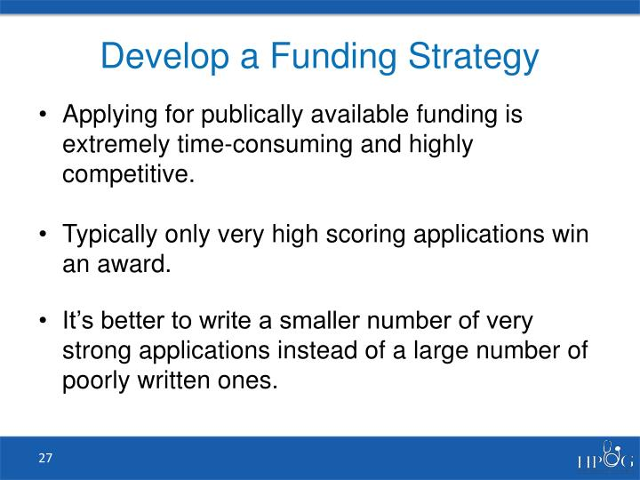 Develop a Funding Strategy