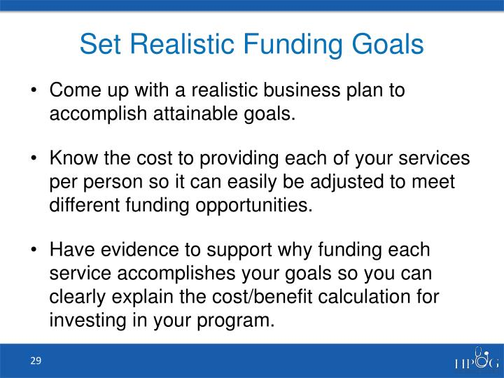 Set Realistic Funding Goals