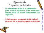 ejemplos de programas de estudio