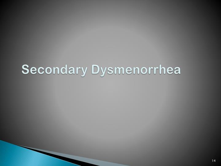 Secondary Dysmenorrhea