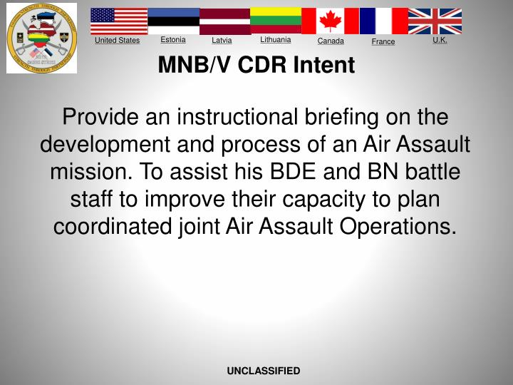 Mnb v cdr intent