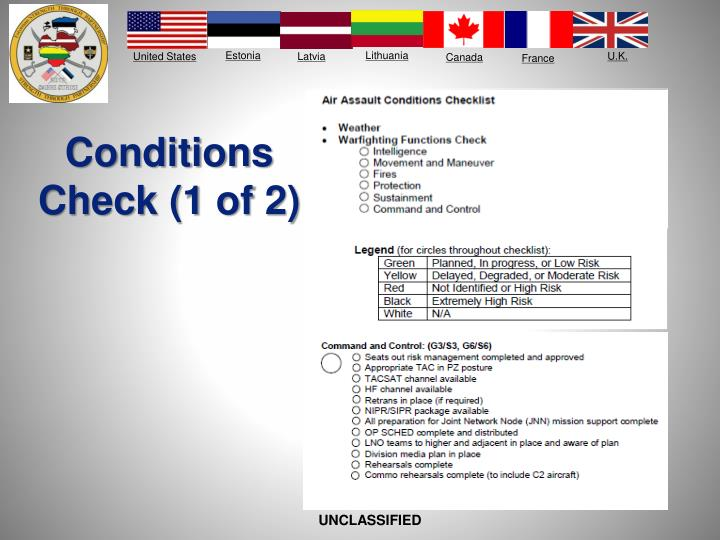Conditions Check (1 of 2)
